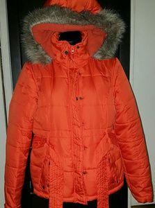 Orange fluffy jacket